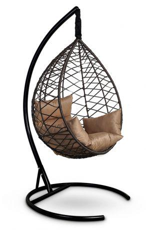 Подвесное кресло-кокон ALICANTE каркас коричневый