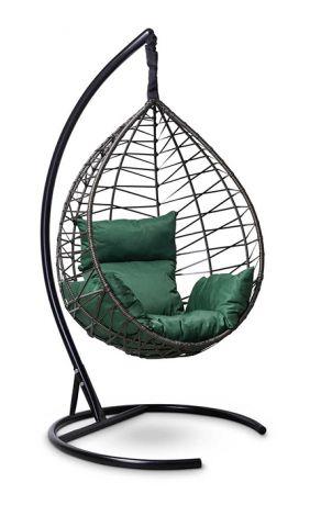Подвесное кресло-кокон ALICANTE каркас черный с золотом