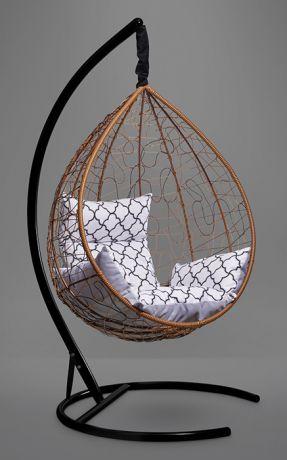 Подвесное кресло-кокон SEVILLA ELEGANT каркас горячий шоколад