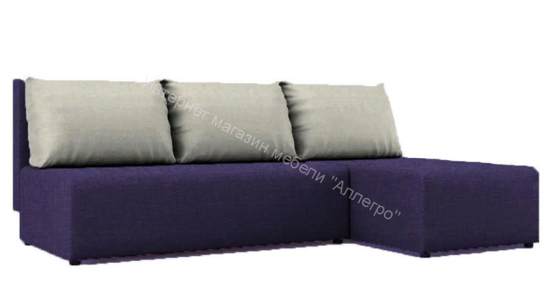"Угловой диван ""Алиса"" Savana Violet/Savana Milk кат.1"