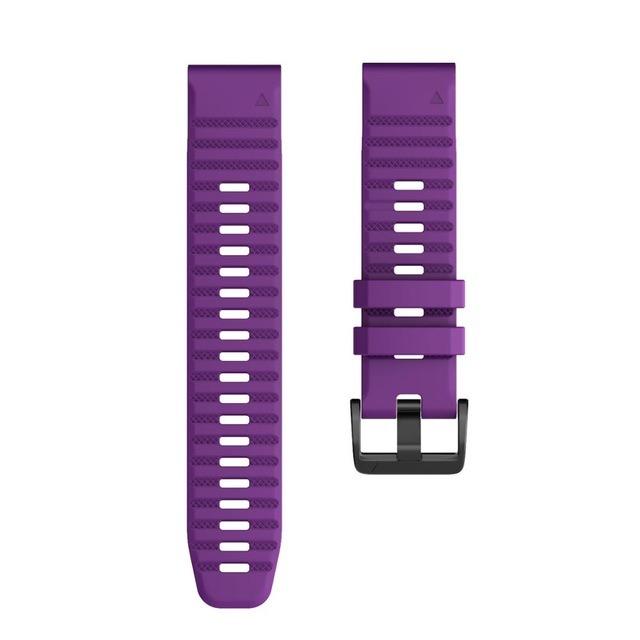 Ремешок сменный QuickStrap 22мм силиконовый фиолетовый