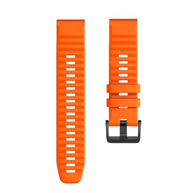 Ремешок сменный QuickStrap 22мм силиконовый оранжевый