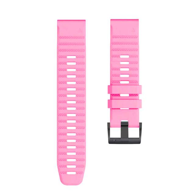 Ремешок сменный QuickStrap 22мм силиконовый розовый