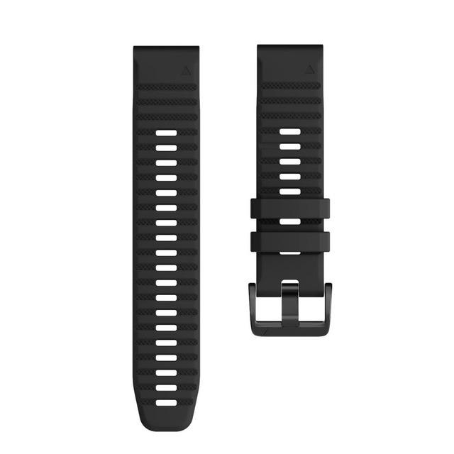 Ремешок сменный QuickStrap 20мм силиконовый черный