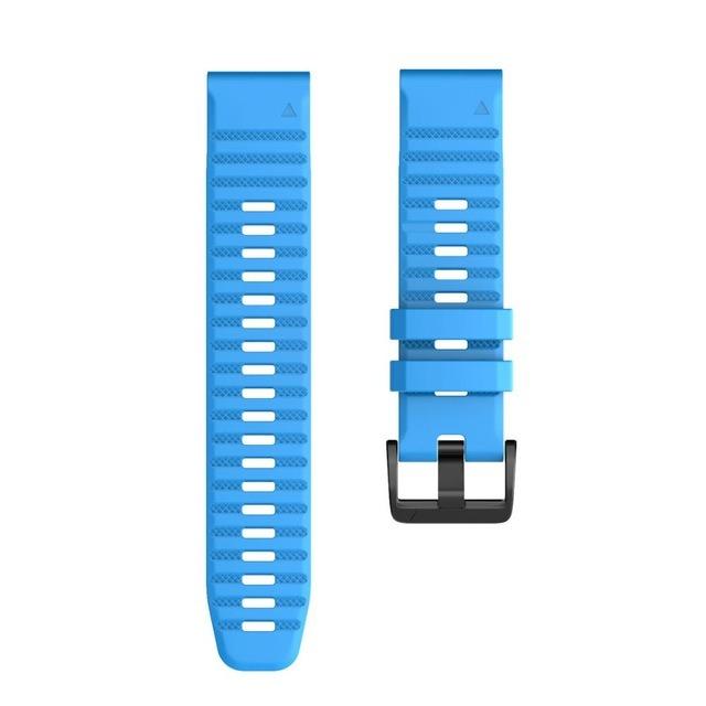 Ремешок сменный QuickStrap 20мм силиконовый голубой