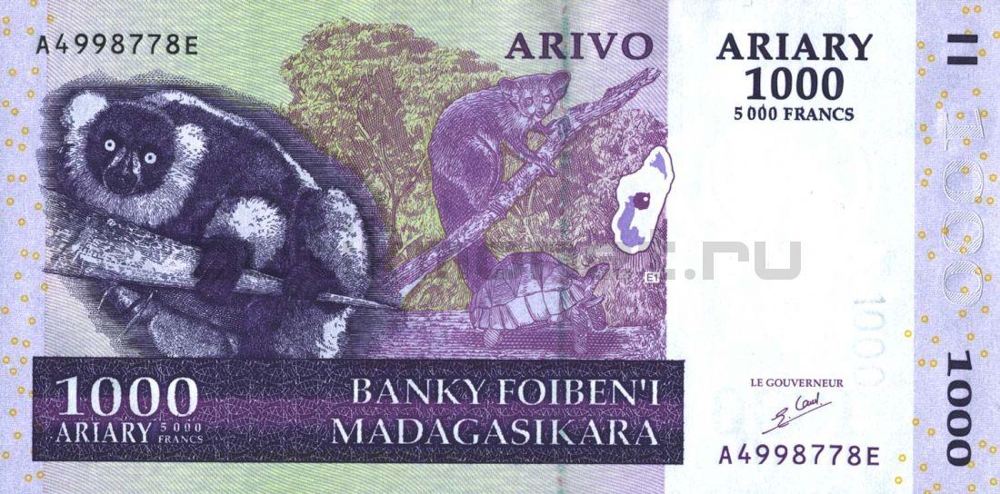 1000 ариари 2004 Мадагаскар