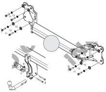 Фаркоп (тсу) Aragon, крюк на болтах, тяга 3.5т