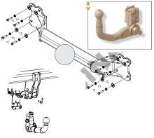 Фаркоп (тсу) Aragon, крюк быстросьем, тяга 3.5т