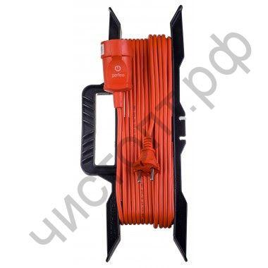 """Удлинитель Perfeo """"RU POWER"""" на рамке без заземления 30м 1гн 10А ПВС 2х1,0 (УХ10-101) оранжевый."""
