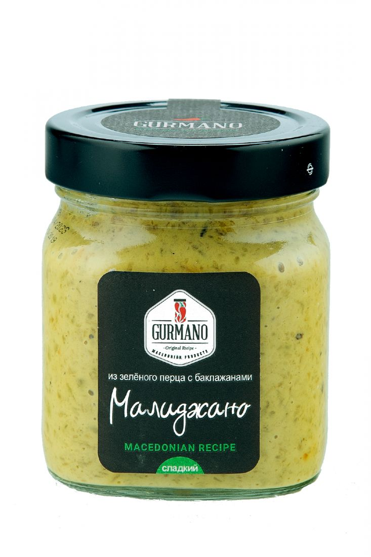 Малиджано из зеленого перца с баклажанами - 300 гр