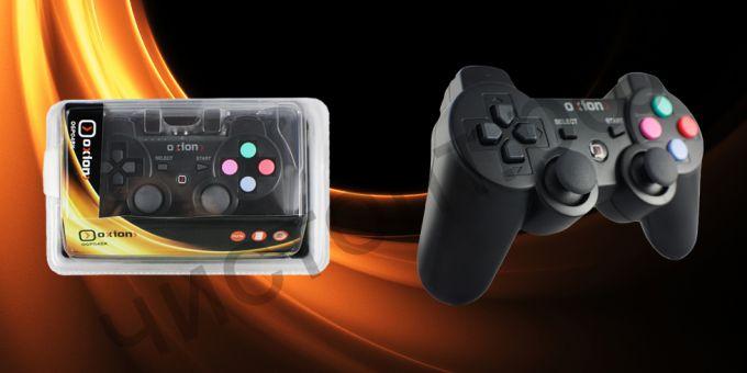 Геймпад Oxion OGP04BK, отсоединяемый USB 1.5м, plug and play, чёрный для PS3 Нарушена упаковка !!!