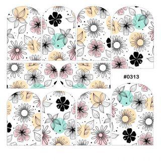 Слайдер-дизайн для ногтей № 0313