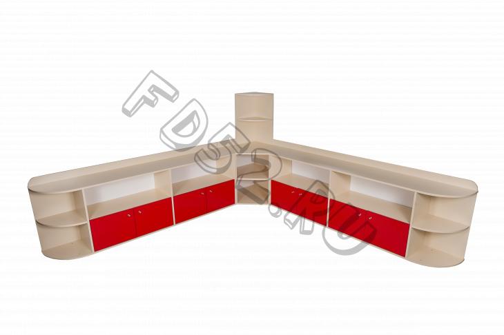 Стенка угловая ( Методический уголок),  2500*340*650(1250)
