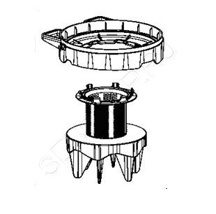 Cетчатый фильтр  контейнера для сбора мусора пылесосов TEFAL SILENCE FORCE CYCLONIC моделей TW76.... Артикул RS-2230000788