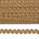 фото Тесьма вязаная отделочная Змейка 10 мм  3795.2 охра