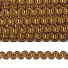 фото Тесьма вязаная отделочная Змейка 10 мм  3795.8 горчичный