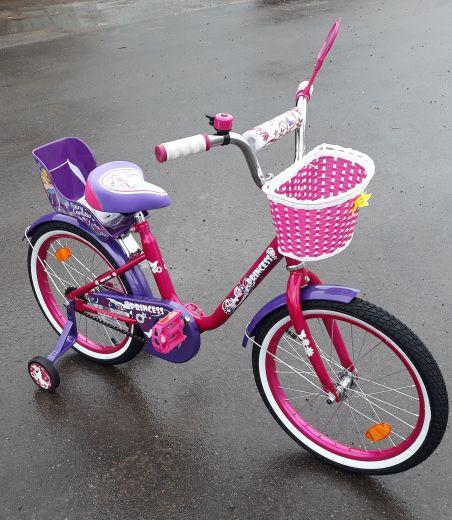 Велосипед BA Purple с креслом для куклы