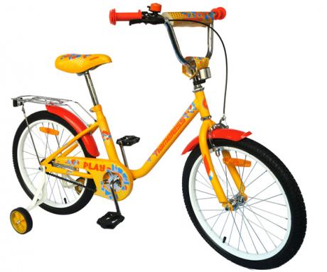 "Велосипед 16"" Nameless PLAY, желтый/оранжевый"