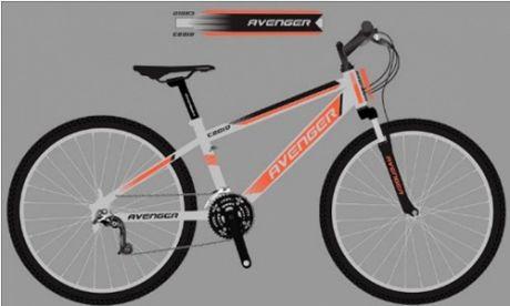 """Велосипед 20"""" AVENGER C201D серый/оранжевый неон"""