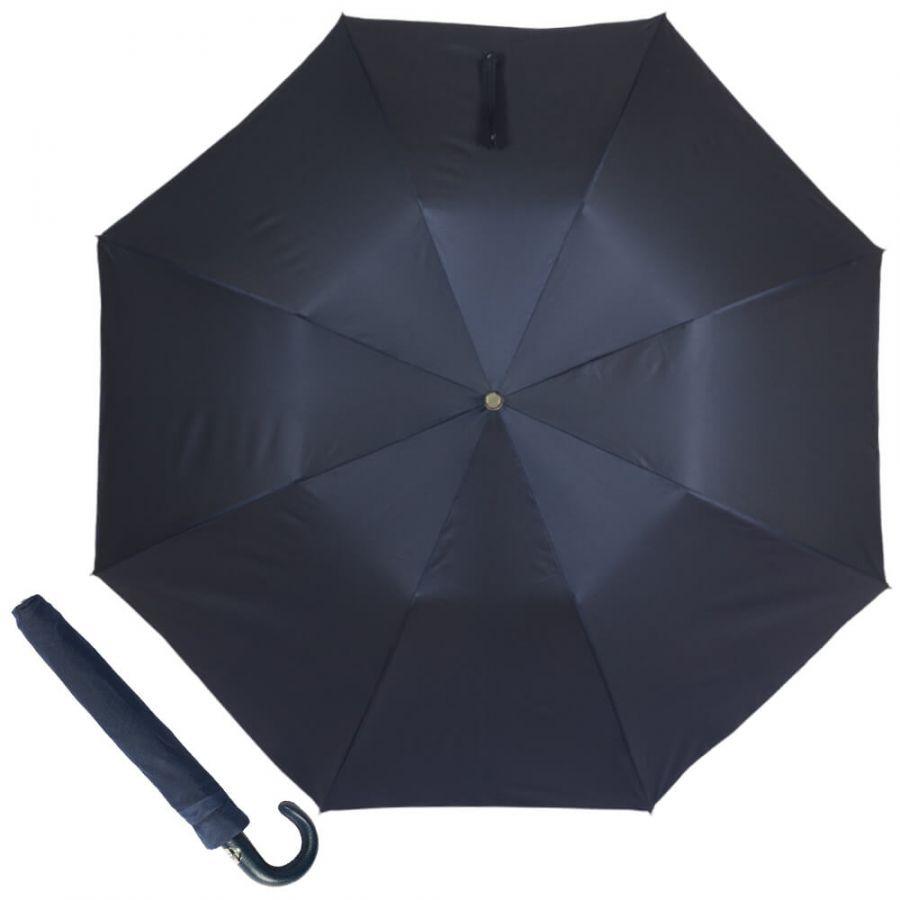 Зонт складной Pasotti Auto Classic Pelle Oxford Blu