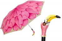 Зонт складной Pasotti Manual Georgin Rosa Flamingo