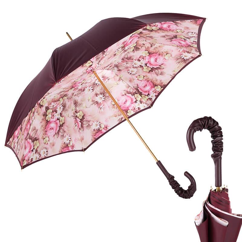 Зонт-трость Pasotti Bordo Daizy Pelle