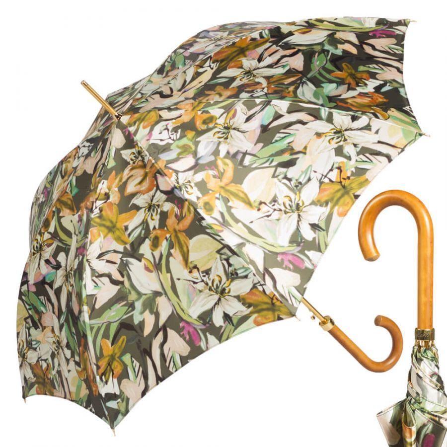 Зонт-трость Pasotti Uno Iris Verde Legno