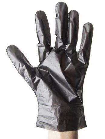 Перчатки одноразовые Aviora из термопластэластомера, черные, 50 пар