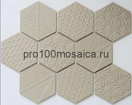 R-331. Мозаика Соты серия RUSTIK,  размер, мм: 256*295,5*5 (NS Mosaic)