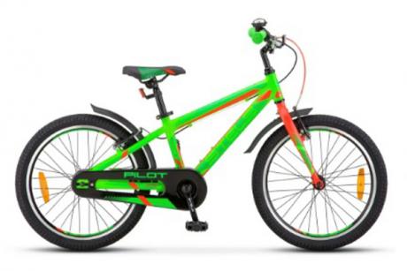 """Велосипед STELS Pilot-250 Gent 20"""" Неон-зелёный 2021"""