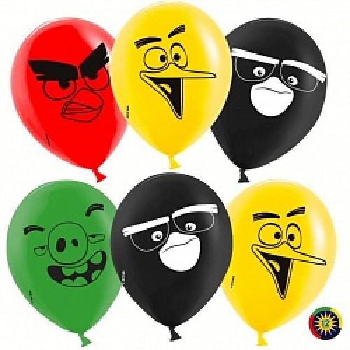 Angry Birds глаза и клювы шар латексный с гелием
