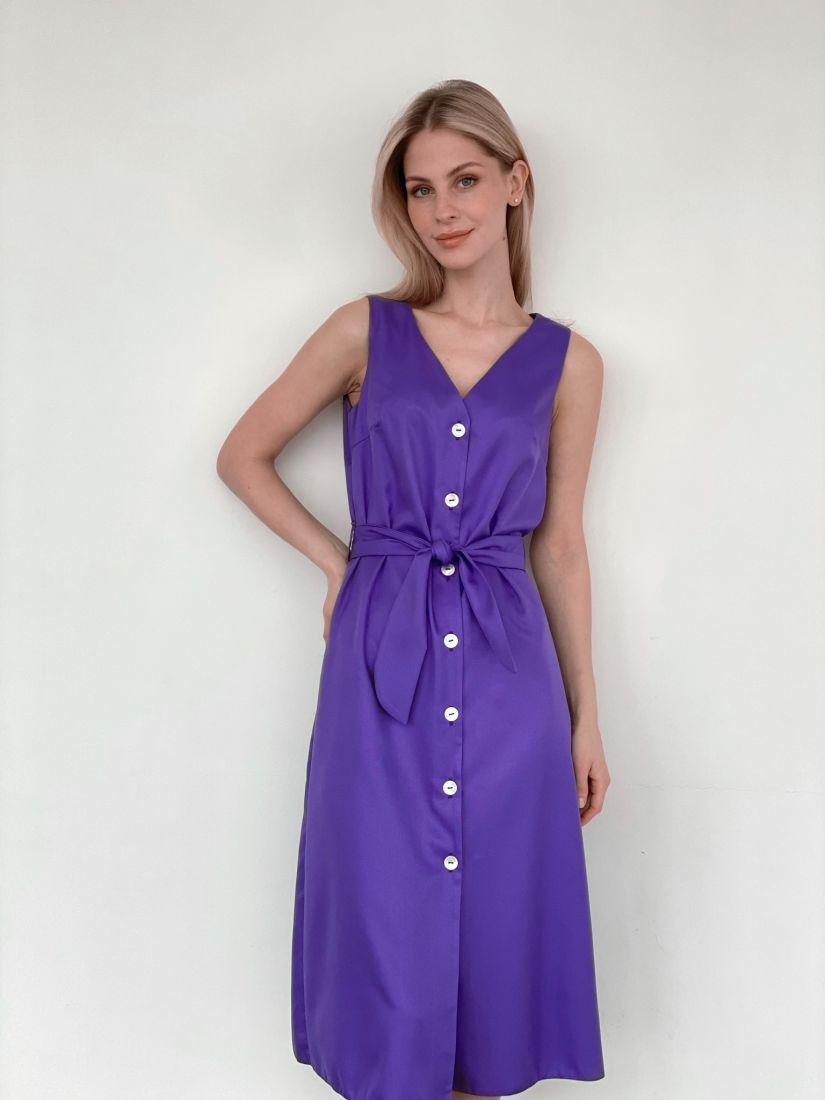 s3985 Сарафан на широких бретелях фиолетовый