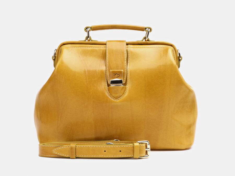 "Женская кожаная сумка Alexander-TS ""W0023 Yellow"""