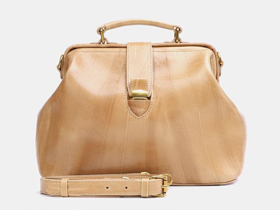 "Женская кожаная сумка Alexander-TS ""W0023 Beige"""