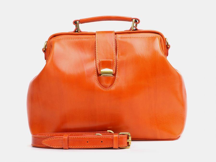 """Женская кожаная сумка Alexander-TS """"W0023 Orange"""""""