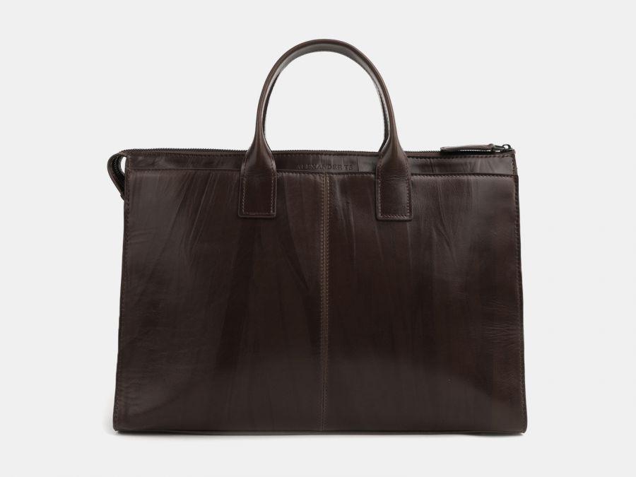 Кожаная мужская сумка из натуральной кожи Alexander-TS «PF0023 Brown»