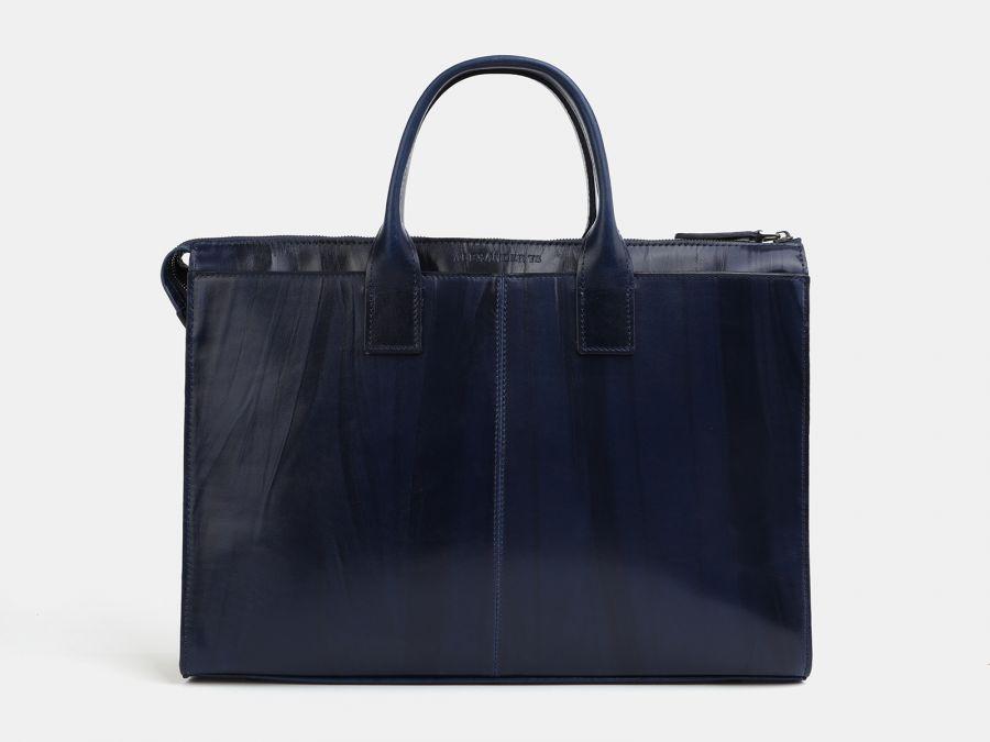 Кожаная мужская сумка из натуральной кожи Alexander-TS «PF0023 Blue»