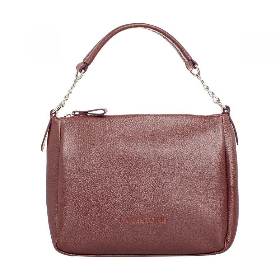 Женская кожаная сумка Lakestone Lacey Burgundy