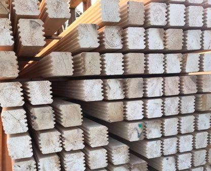Брус стеновой профилированный 100х200х6000 мм