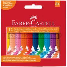 Мелки восковые 12цв.Faber-Castell GRIP Jumbo трехгранные 122540