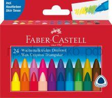 Мелки восковые 24цв.Faber-Castell TRIANGULAR 120024