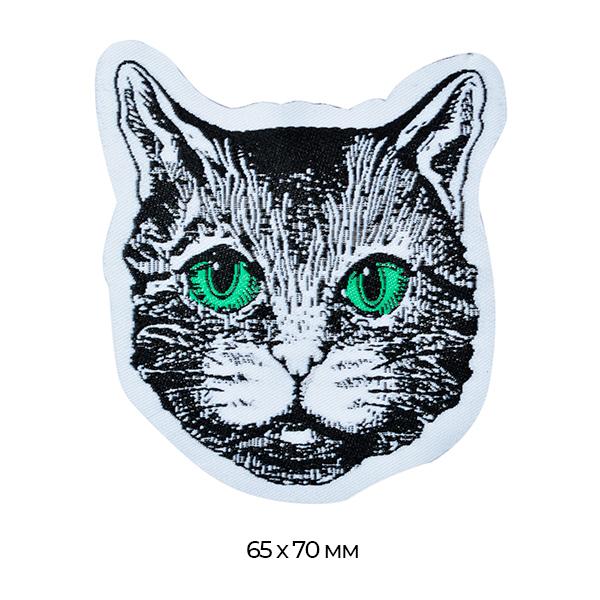 фото Аппликация пришивная Серая кошка (TBY.WJ1317)