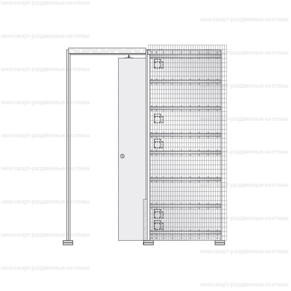 Пенал Eclisse Luce Unico под штукатурку (полотно 2000/2100 мм)