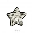 фото звезда с пайетками серебро TBT.TEP.7.10