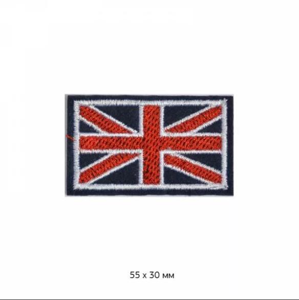 фото Термо-аппликация Флаг Великобритании 50 мм х 30 мм (TBT.ТЕР.19.7)