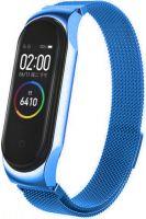 Браслет для Xiaomi Mi Band 5 миланская петля магнитный замок (синий)
