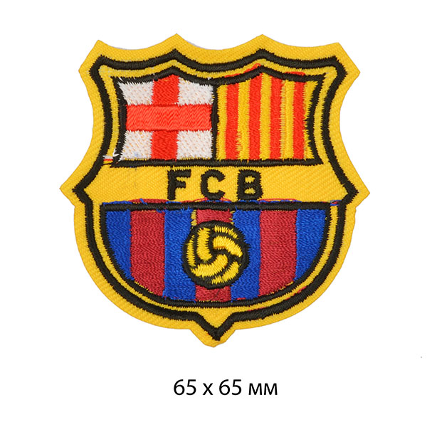 фото Термо-аппликация Герб FCB (Футбольный клуб Барселона) 65 мм х 65 мм TBY.SH04