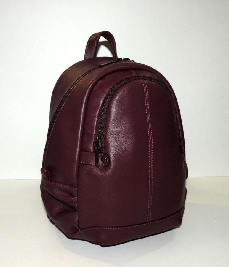 """Бордовый кожаный рюкзак  """"Венеция"""""""