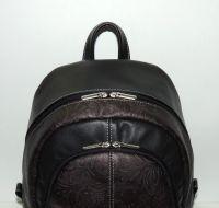 """Кожаный рюкзак  """"Цветочный узор"""""""