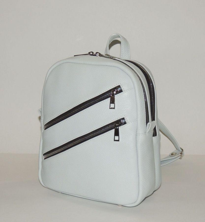 """Белый кожаный рюкзак  """"Джульетт"""""""